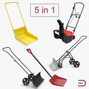 Manual Snow Removal Equipment 3D Models Collection 3d model
