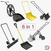 Snow Shovels 3D Models Collection 3d model