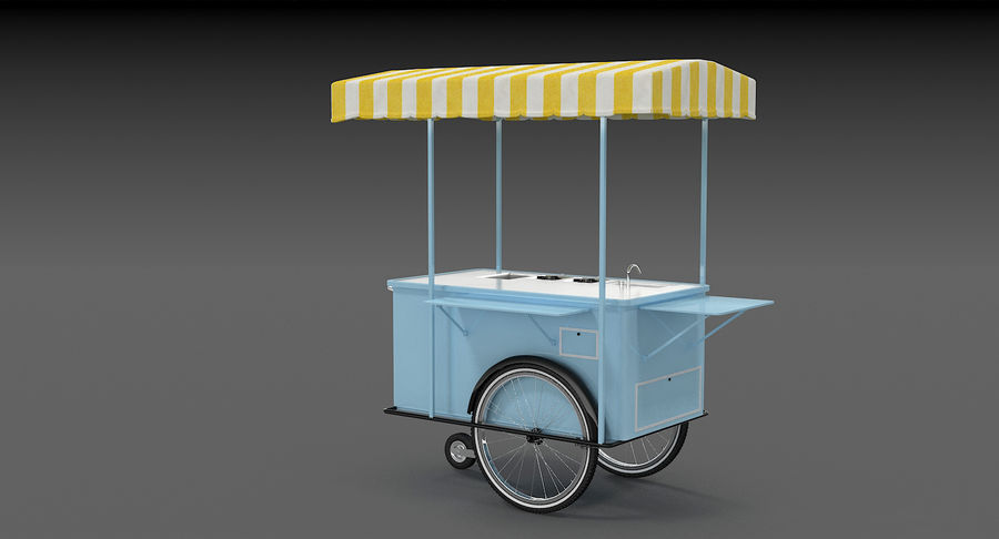 Food Cart royalty-free 3d model - Preview no. 7