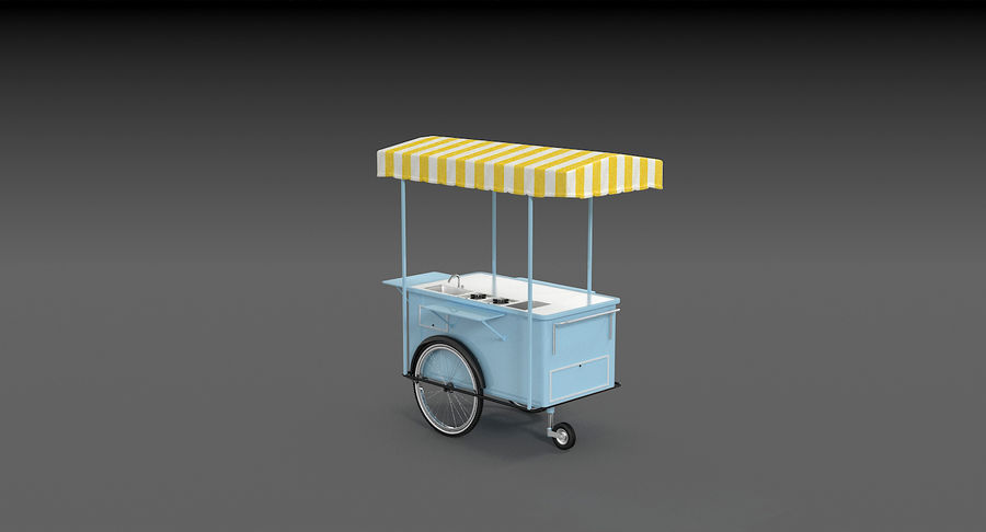 Food Cart royalty-free 3d model - Preview no. 11