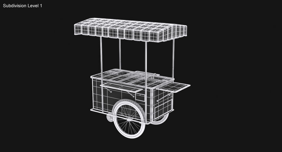 Food Cart royalty-free 3d model - Preview no. 19