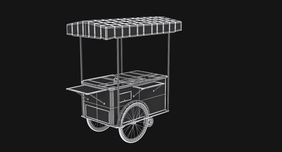 Food Cart royalty-free 3d model - Preview no. 16