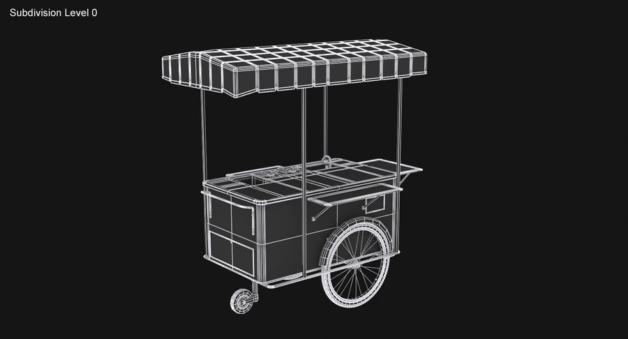Food Cart royalty-free 3d model - Preview no. 20
