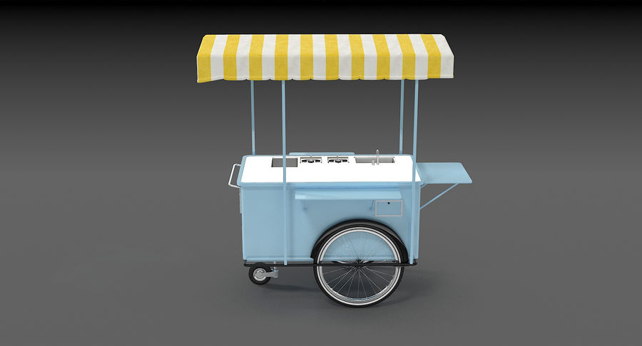 Food Cart royalty-free 3d model - Preview no. 8