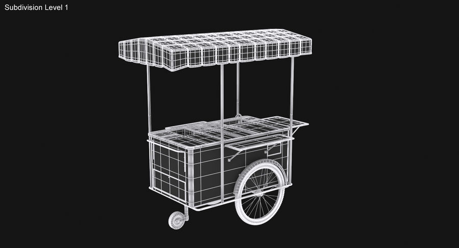 Food Cart royalty-free 3d model - Preview no. 21