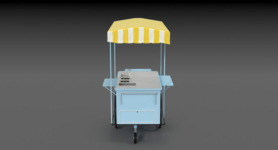 Food Cart royalty-free 3d model - Preview no. 10