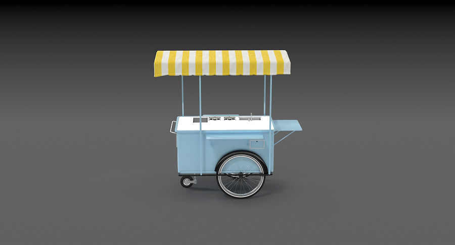Food Cart royalty-free 3d model - Preview no. 13