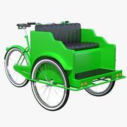 Green Pedicab 3d model