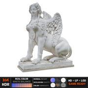 古代雕塑狮身人面像 3d model