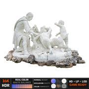 古代雕塑喷泉 3d model