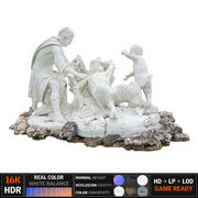 Ancient sculpture Fountain 3d model