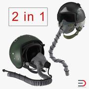 Jet Fighter Pilot Helmets Collection 3d model