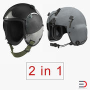 US Military Pilot Helmets Collection 3d model