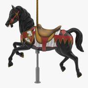 Carousel Horse v10 3d model