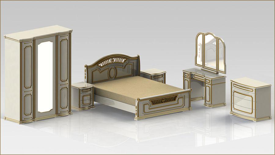 Bett und Nachttisch royalty-free 3d model - Preview no. 13