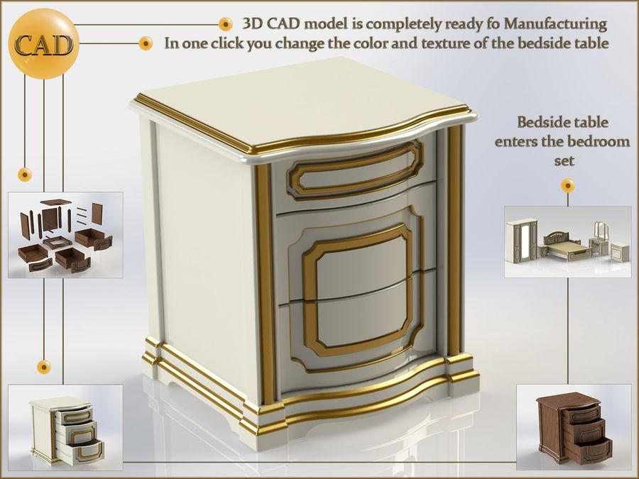 Bett und Nachttisch royalty-free 3d model - Preview no. 9