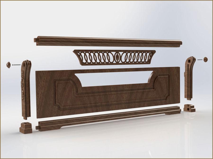 Bett und Nachttisch royalty-free 3d model - Preview no. 8