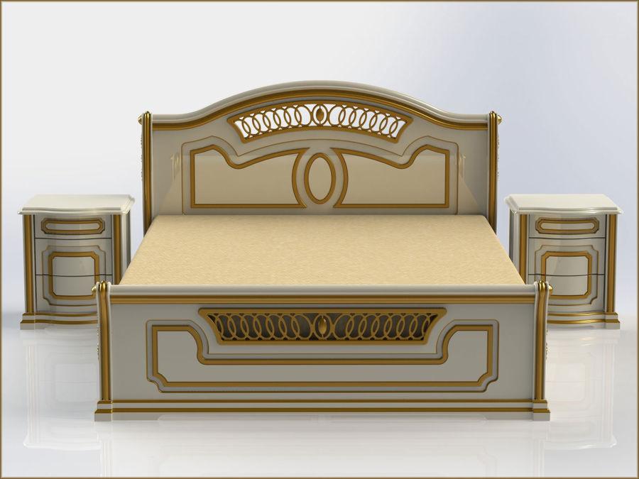 Bett und Nachttisch royalty-free 3d model - Preview no. 4
