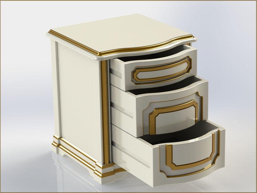 Bett und Nachttisch royalty-free 3d model - Preview no. 11