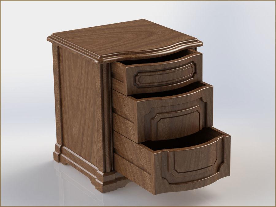 Bett und Nachttisch royalty-free 3d model - Preview no. 12