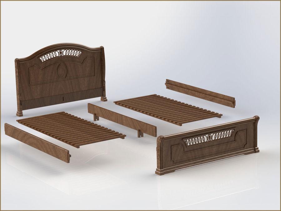 Bett und Nachttisch royalty-free 3d model - Preview no. 6