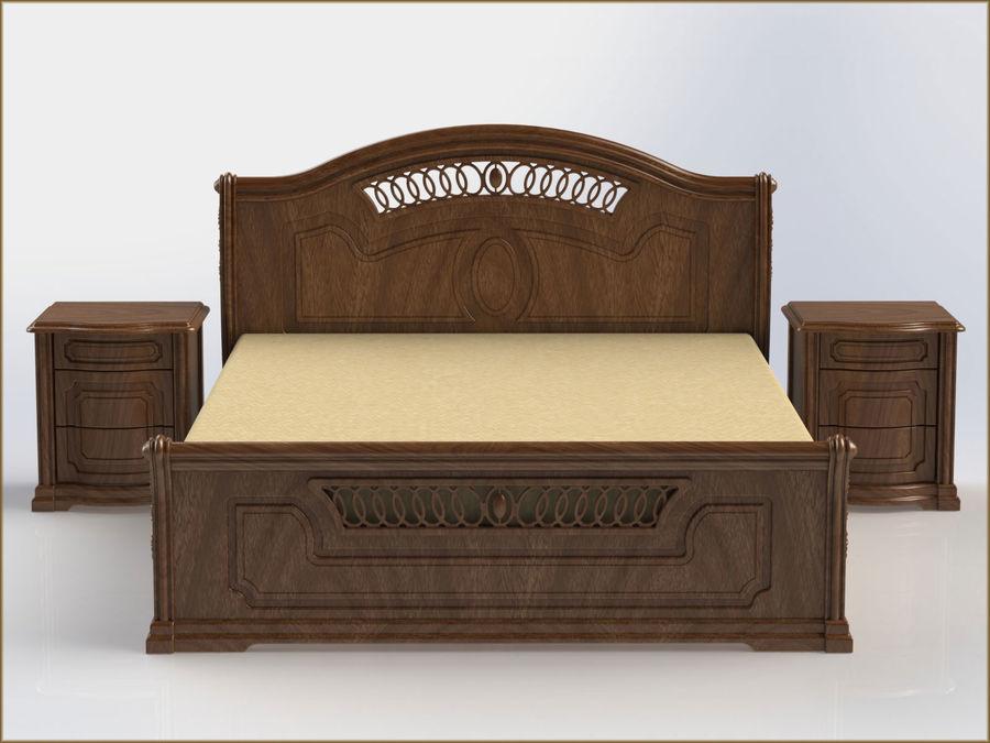 Bett und Nachttisch royalty-free 3d model - Preview no. 5
