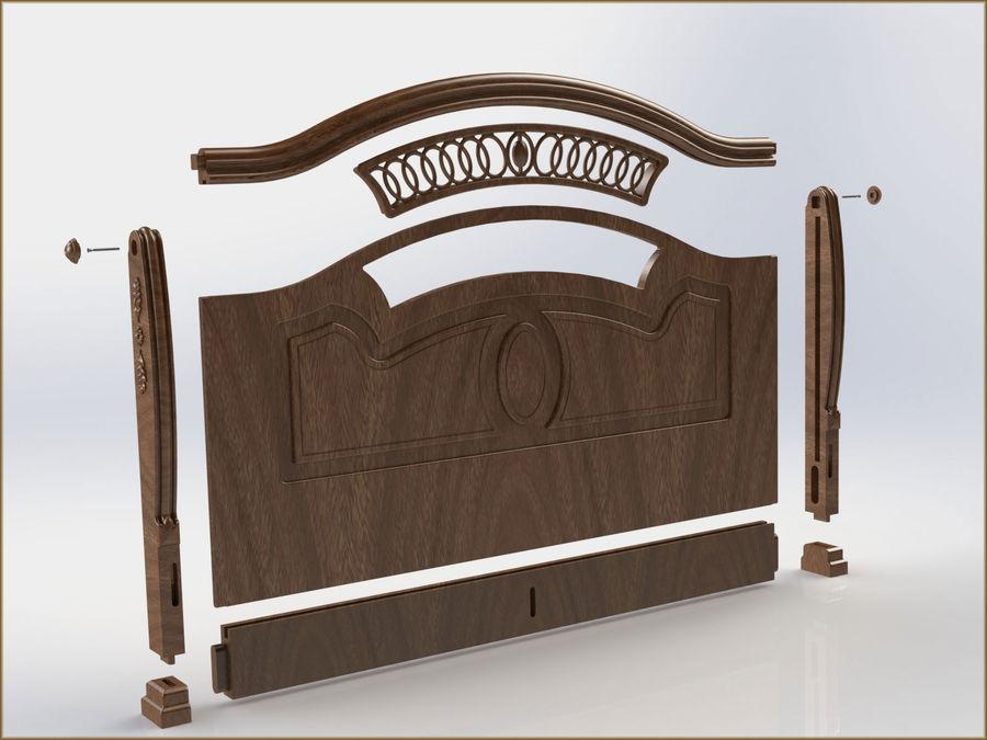Bett und Nachttisch royalty-free 3d model - Preview no. 7