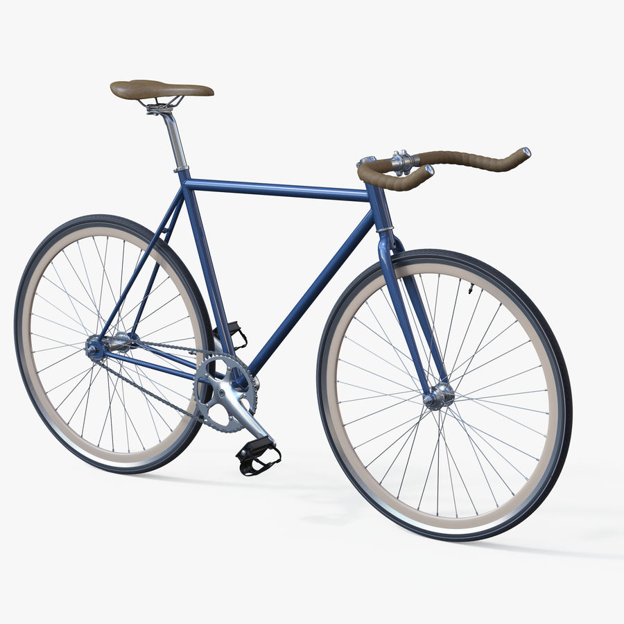 Fixie Bike royalty-free 3d model - Preview no. 1