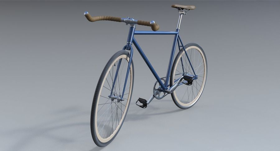 Fixie Bike royalty-free 3d model - Preview no. 11