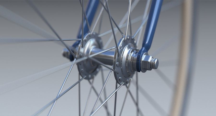 Fixie Bike royalty-free 3d model - Preview no. 12