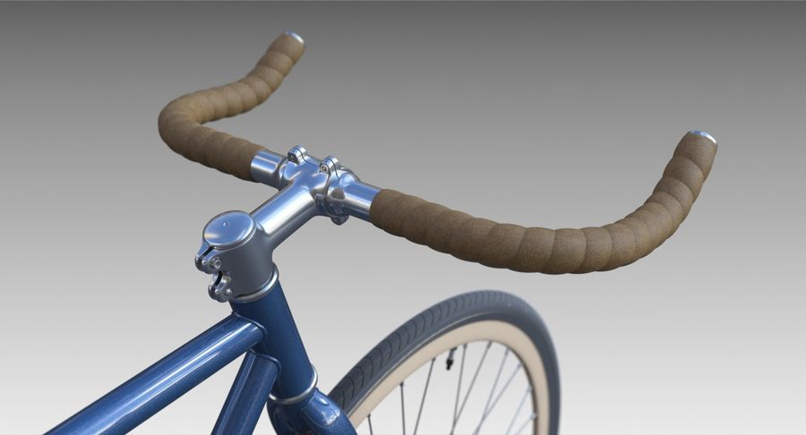 Fixie Bike royalty-free 3d model - Preview no. 8
