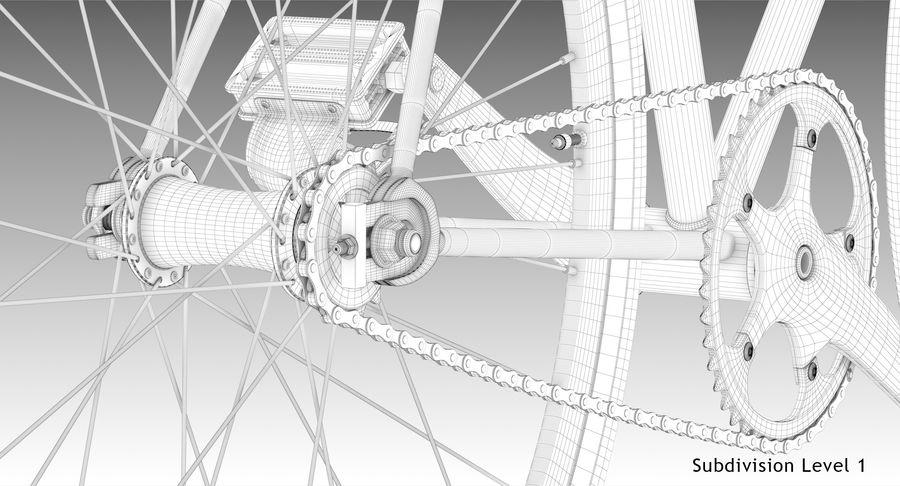Fixie Bike royalty-free 3d model - Preview no. 22