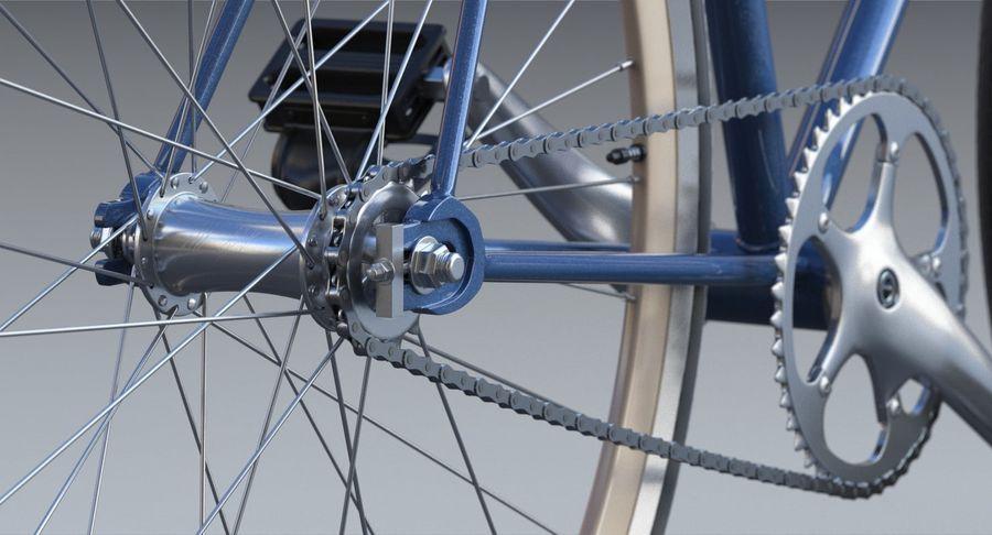 Fixie Bike royalty-free 3d model - Preview no. 6