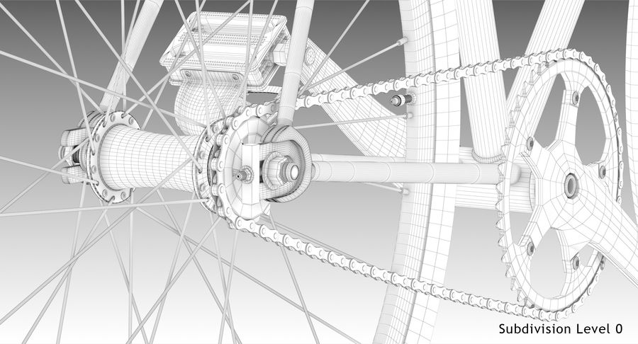 Fixie Bike royalty-free 3d model - Preview no. 21