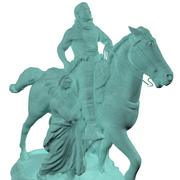 Theodore Roosevelt Monument American Museum 3d model