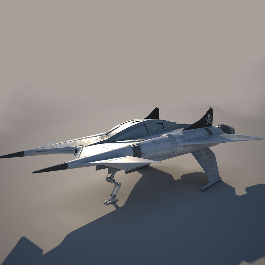 Thunder fighter royalty-free 3d model - Preview no. 2