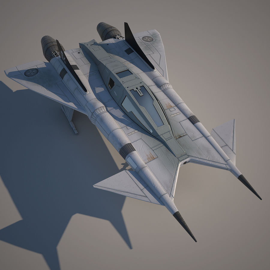 Thunder fighter royalty-free 3d model - Preview no. 6