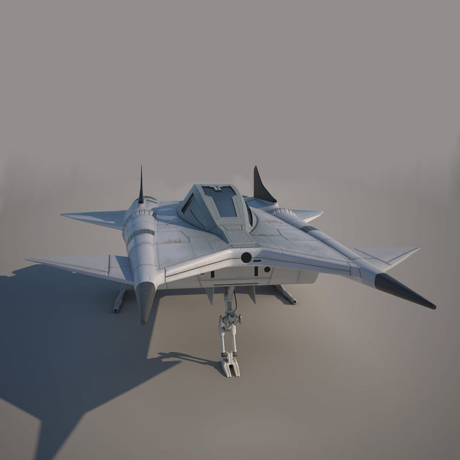 Thunder fighter royalty-free 3d model - Preview no. 8