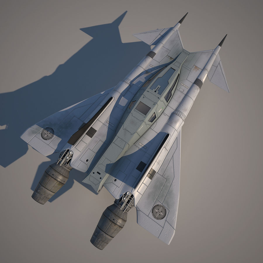 Thunder fighter royalty-free 3d model - Preview no. 10