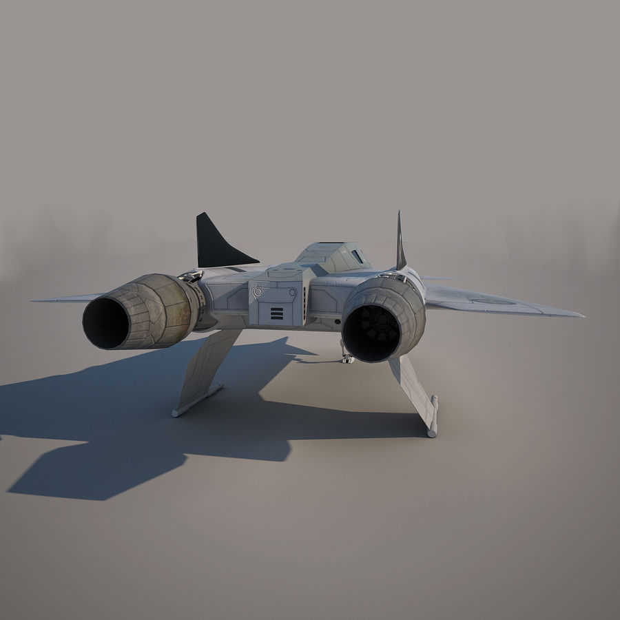 Thunder fighter royalty-free 3d model - Preview no. 9