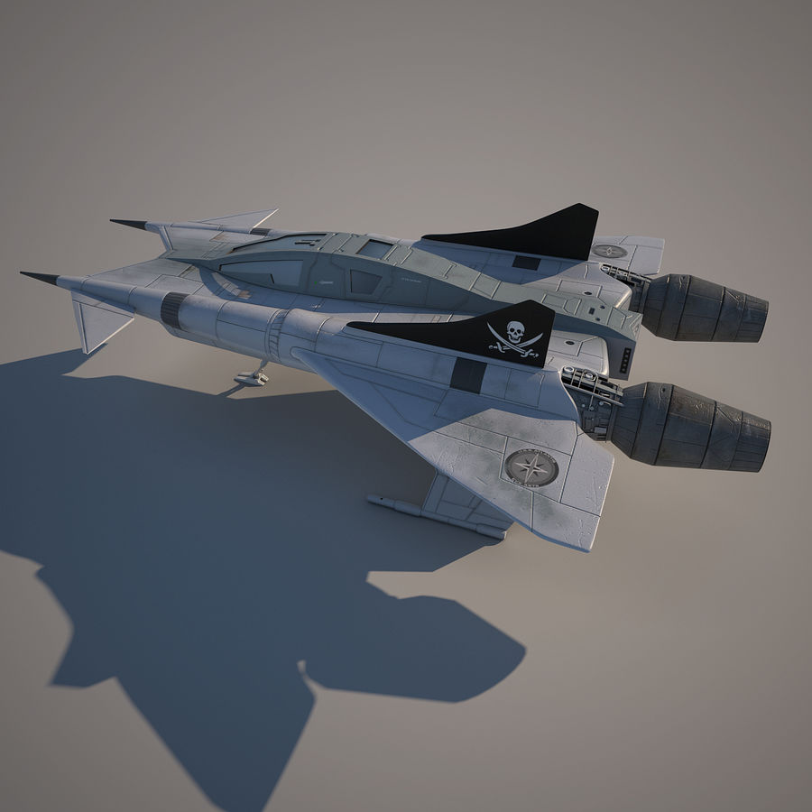 Thunder fighter royalty-free 3d model - Preview no. 3