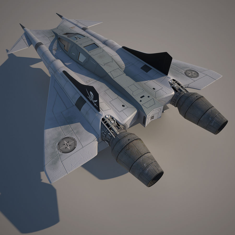Thunder fighter royalty-free 3d model - Preview no. 5
