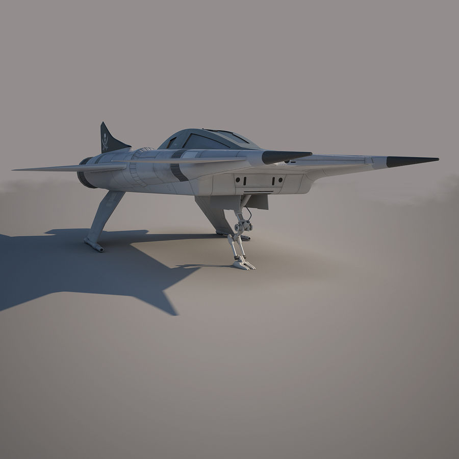 Thunder fighter royalty-free 3d model - Preview no. 7