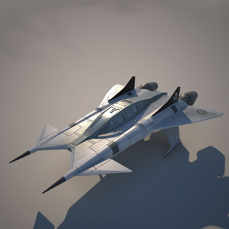 Thunder fighter royalty-free 3d model - Preview no. 1