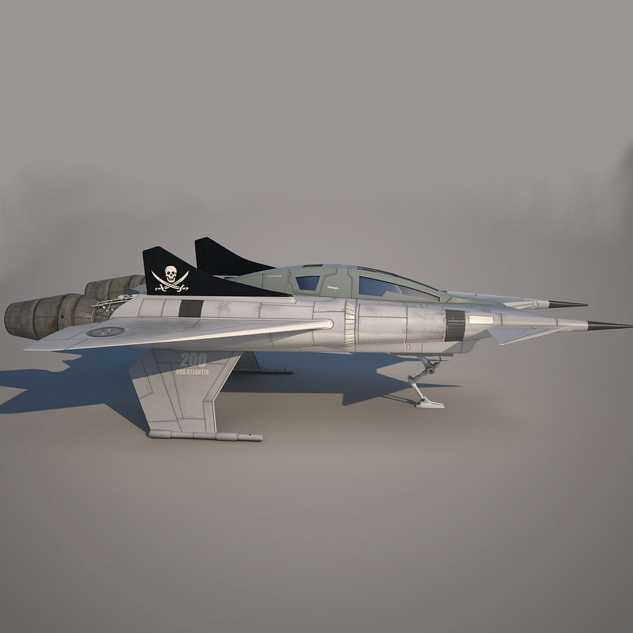 Thunder fighter royalty-free 3d model - Preview no. 11