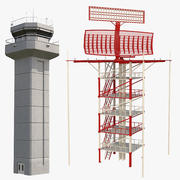 Airport Radar & Tower Collection 3d model