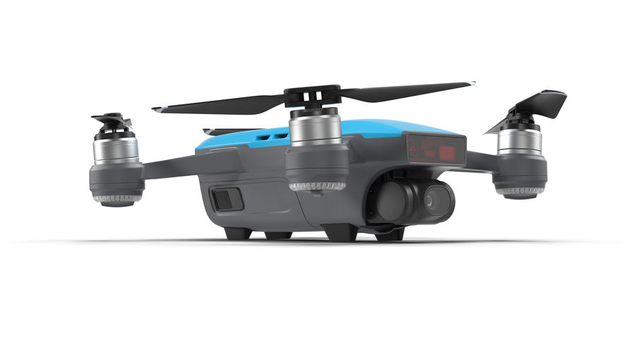 DJI Spark Blue royalty-free 3d model - Preview no. 5