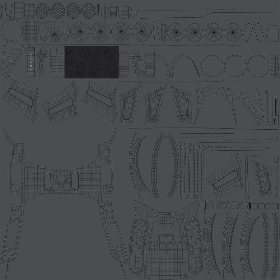 DJI Spark Blue royalty-free 3d model - Preview no. 29
