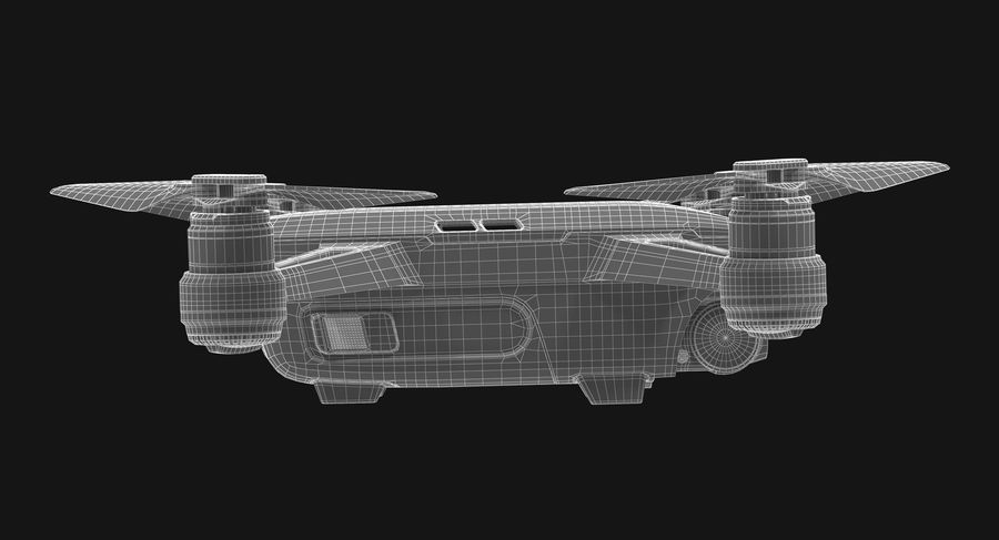 DJI Spark Blue royalty-free 3d model - Preview no. 24