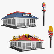 Restaurant Collection 01 3d model